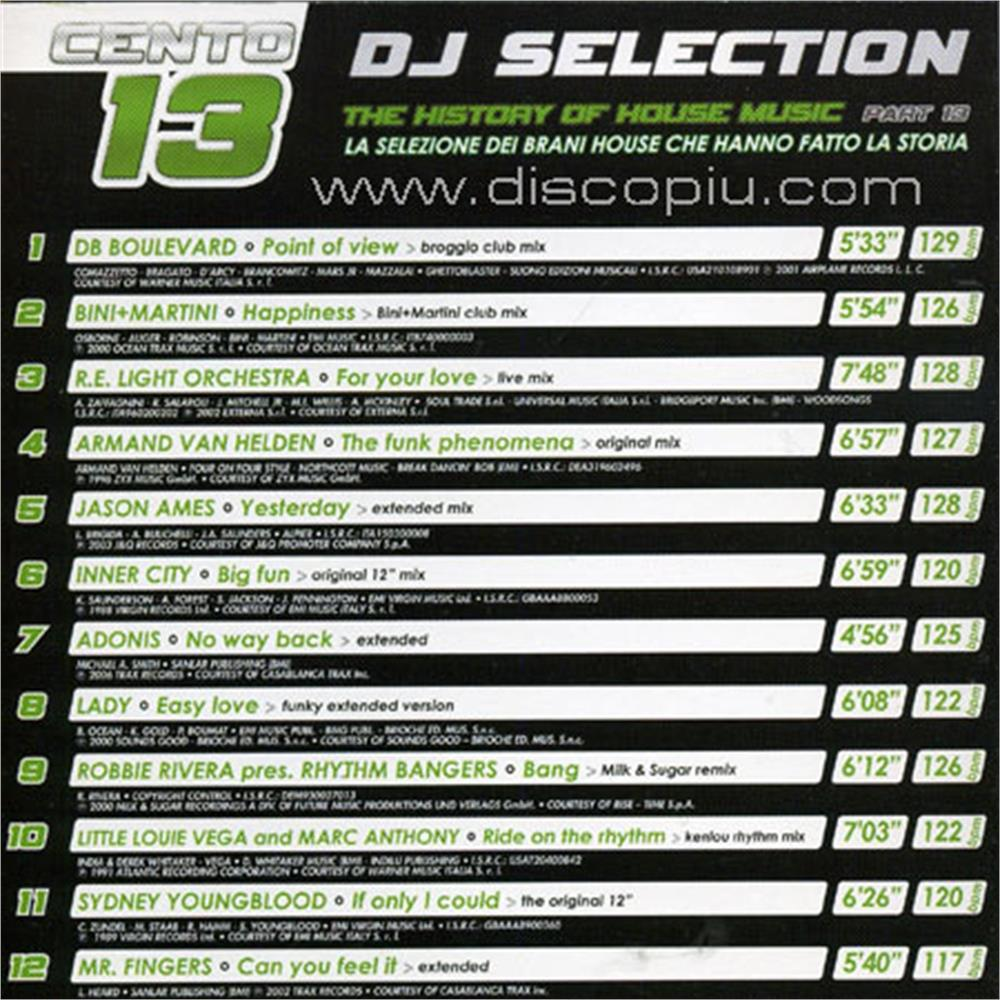 V a dj selection 113 the history of house music for Classic house unmixed