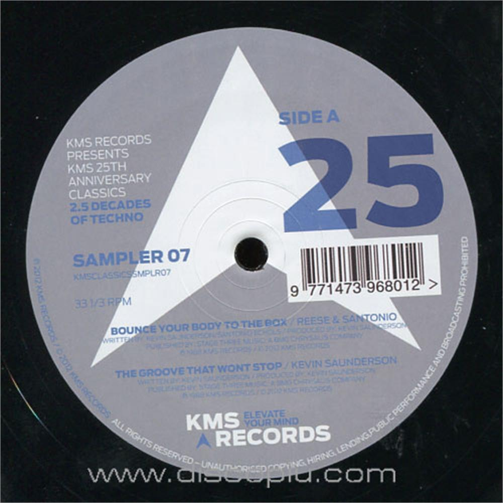 V a kms 25th anniversary classics vinyl sampler 7 disco pi for Classic house unmixed