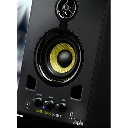how to set up lcdf monitor speakers
