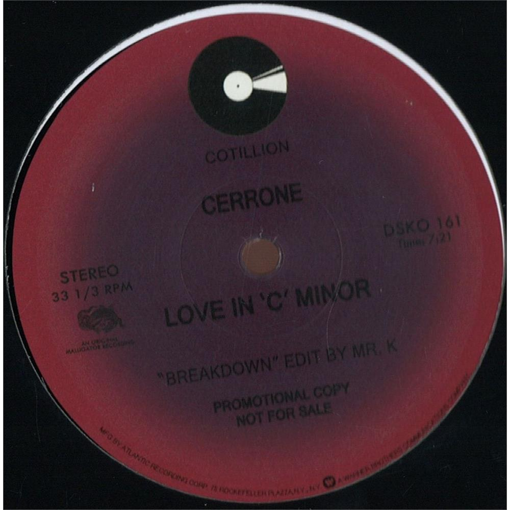 Cerrone love in 39 c 39 minor disco pi for Classic house unmixed