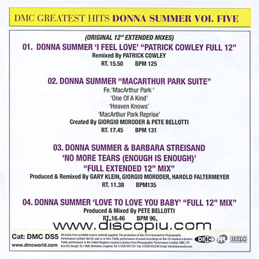 donna summer - dmc greatest mixes vol 5 disco vocal classic oldies