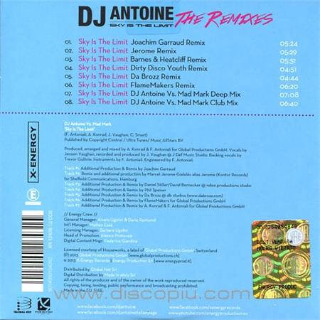 dj antoine vs  mad mark - sky is the limit (the remixes)