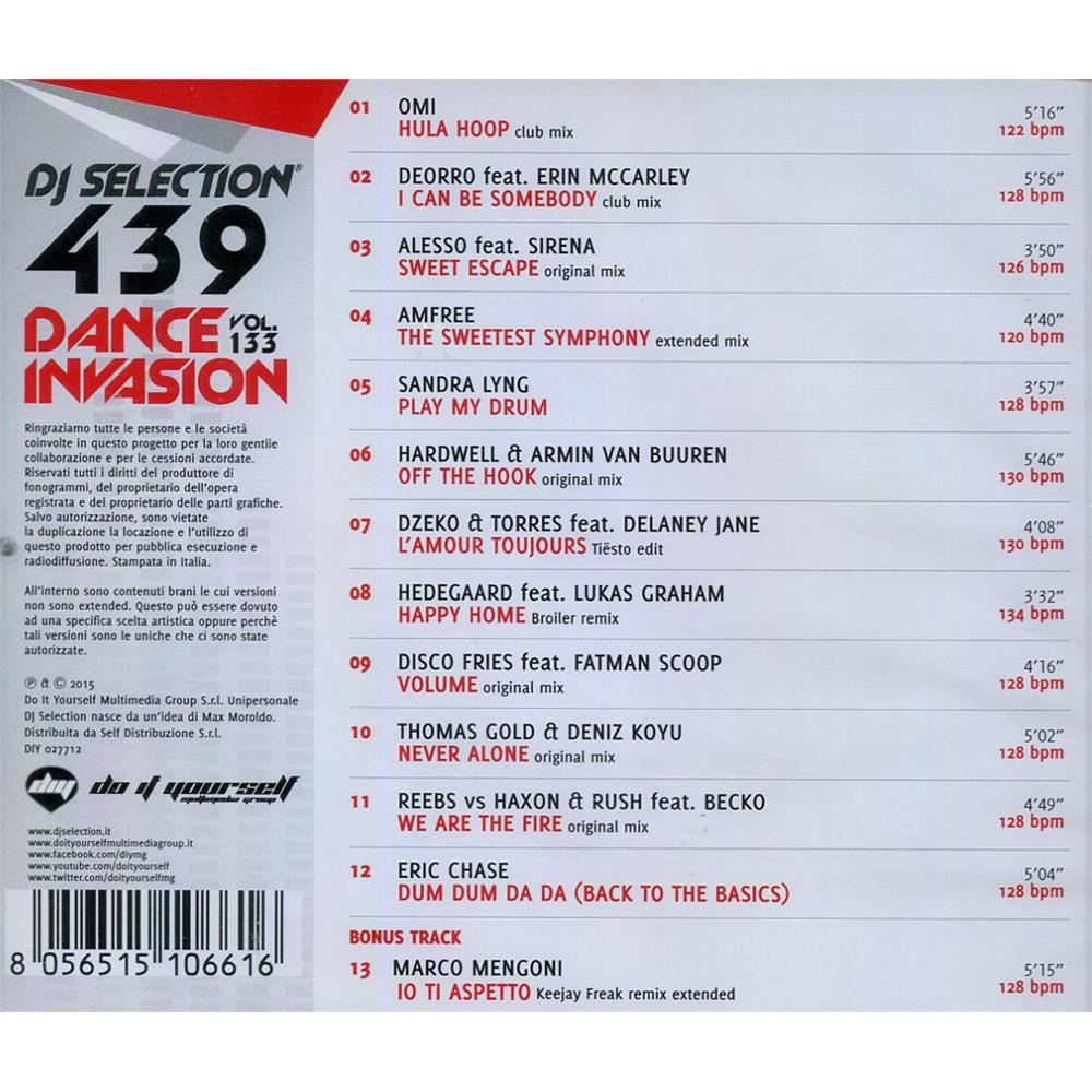 v a  - dj selection 439 - dance invasion vol  133 house dance
