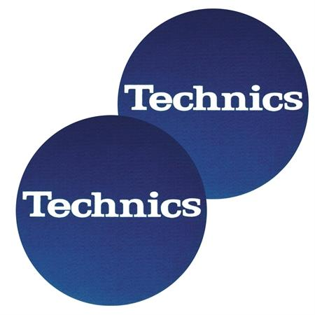 technics-slipmats-bluelogo-white