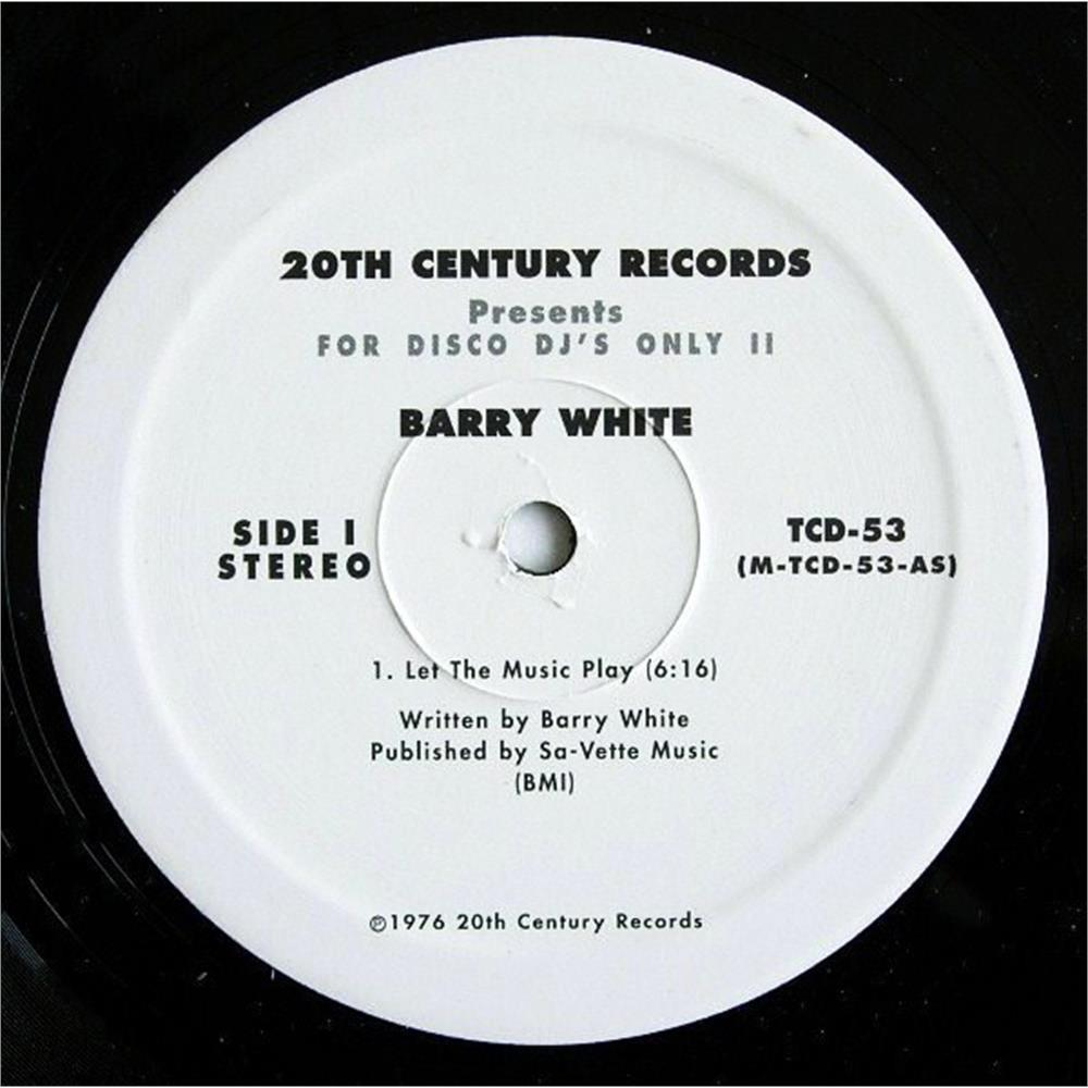 barry white - let the music play disco classic - Disco Più