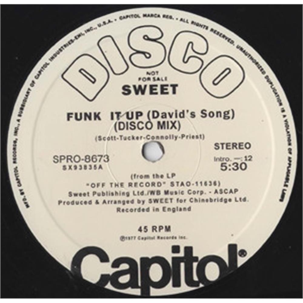 the sweet - funk it up (david's song) disco funk classic - Disco Più