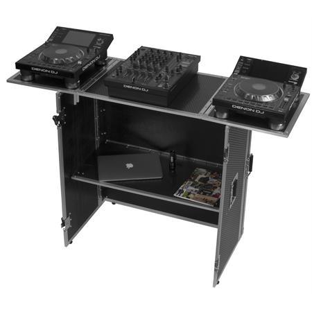 udg-ultimate-fold-out-dj-table-silver-plus-wheels