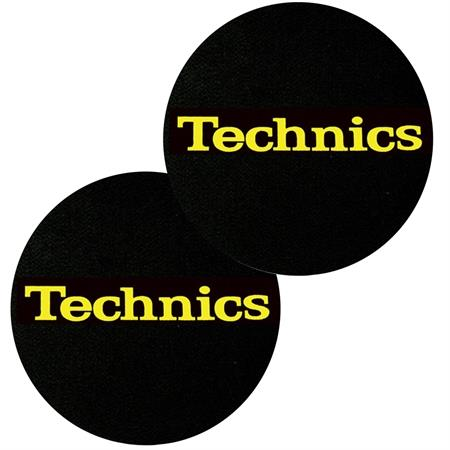 technics-slipmats-black-logo-yellow