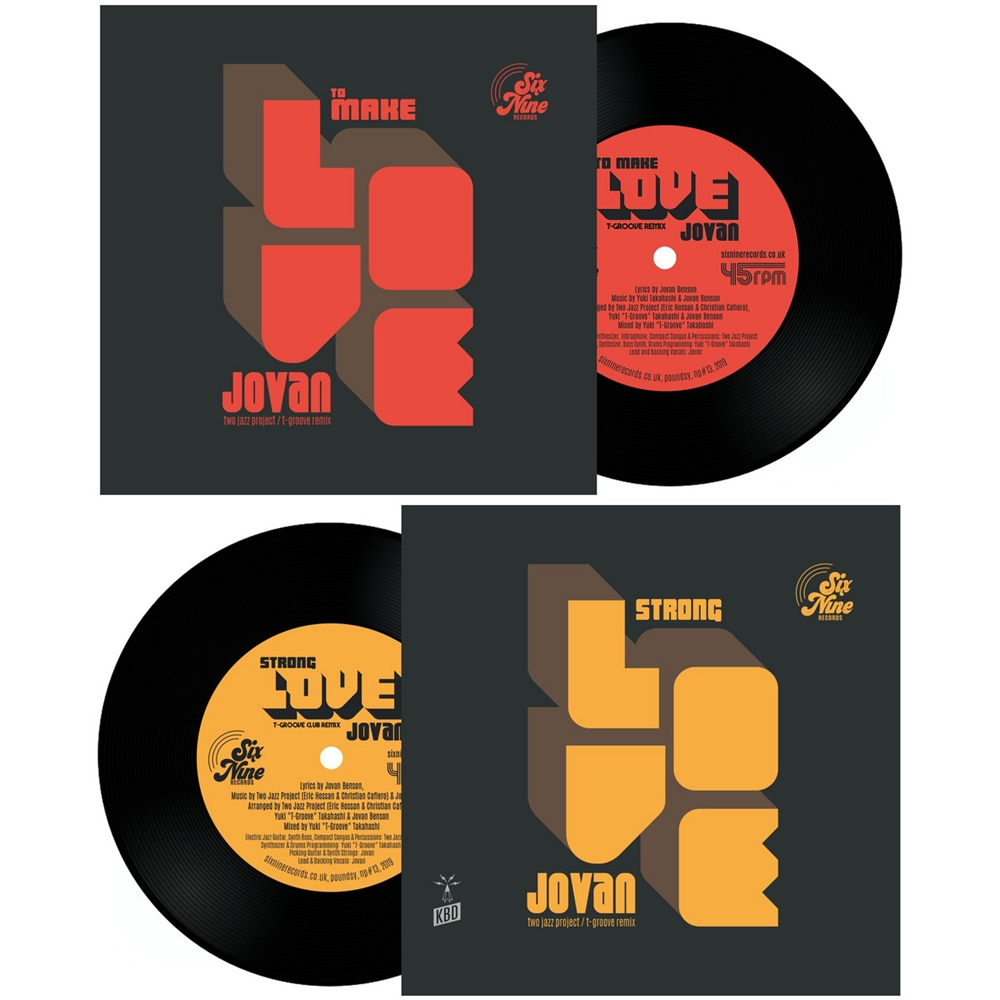 two jazz project featuring jovan, yuki 't-groove' takahash - to make love  (t-groove remix) b/w strong love (t-groove club mix) hip-hop funk soul pop
